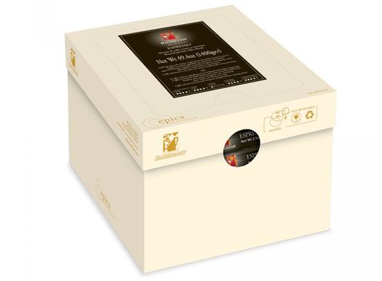 Herman kapsula Hausbrandt transportna kutija. Mešavina Arabike i Robusta espresso kafe. Espresso aparati za kafu za kućnu upotrebu. Cafe crema intenso za espreso aparat.