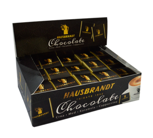 Hausbrandt čokoladica uz epsresso kafu. Konzumira se uz ristretto, standardni espresso, lungo ili cappuccino. Ne manja ukus kafe već daje dodatnu dozu hedonizma.