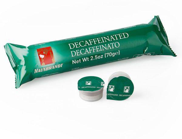 Hausbrandt Decaffeinato espreso kafa u kapsuli za aparat Guzzini, aparat za kafu za kućnu upotrebu. Mešavina najfinijih zrna kafe bez kofeina za aparat za espresso.