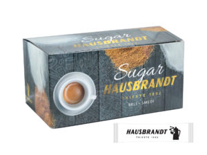 Hausbrandt šećer 4g u kesicama uz espresso kafu ili cappuccino. Usklađuje i balansira note espresso kafe.
