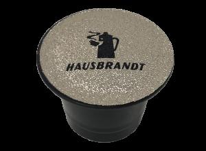 Hausbrandt Intenso espresso. Espreso u kapsuli kompatibilan sa Nespresso aparatima za kućnu upotrebu. Aparati za espreso i cappuccino. Mešavina arabike i robuste u aluminijumskoj kapsuli za kafu.