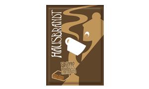 Hausbrandt frappe prašak za pripremanje hladnog napitka sa ukusom čokolade. Milk shake čokolada. Priprema sa mlekom u blenderu. Slatki, ledeni, kremasti i osvežavajući napitak.