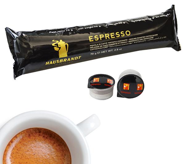 Hausbrandt Herman espresso kafa u kapsuli. Namenjena za upotrebu na kafe aparatima Guzzini. Mlevena kafa u kapsuli. Espresso aparati za kućnu upotrebu ili kancelariju.