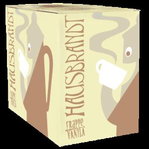 Hausbrandt frappe prašak za pripremanje hladnog napitka sa ukusom vanile. Milk shake ukus vanila. Priprema sa mlekom u blenderu. Slatki, kremasti i osvežavajući napitak. Odličan u kombinaciji sa plazmom za plazma milk shake.